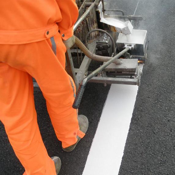熱熔標線施工